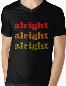 Alright Alright Alright - Matthew McConaughey : Black Mens V-Neck T-Shirt