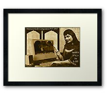 Mansoortosh All New 1947 IMRAN All In One Computer Framed Print
