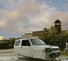 Awesome Adam Zabardast Jeep Sport Utility 4x4 Hovercar by Kenny Irwin
