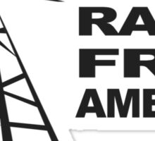 RADIO FREE AMERICA Sticker