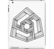 Perspective illusion cube Black and White iPad Case/Skin