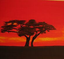 Acacia Tree  (please read Woman, of Africa with this image) by Karen01