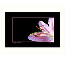 Pink a Boo - For Breast Cancer Survivors Art Print