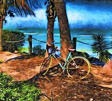 Bicycle Leaning Against a Tree by Dennis Granzow