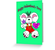 Diddl Red Greeting Card