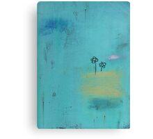 Aqua flowers Canvas Print