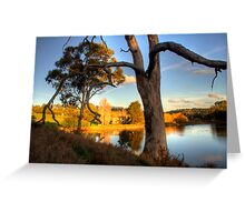View from the hill at Appletree Cottage Greeting Card