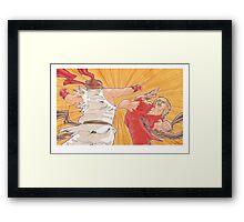 Ken vs. Ryu Framed Print