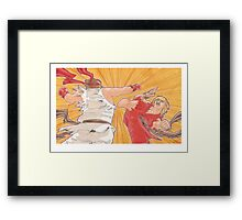 Ken vs. Ryu Framed Print