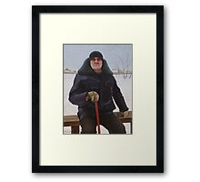 Portrait of an old man (Vasily Osipovich Ilyin) Framed Print