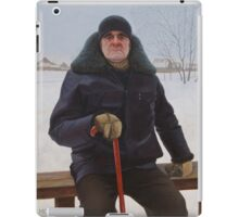 Portrait of an old man (Vasily Osipovich Ilyin) iPad Case/Skin