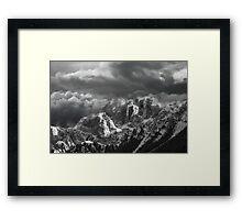 Misty Mountains Cold Framed Print