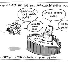 Bartlett and the Ethics Fairy by Jon Kudelka