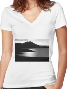 Tranquil Shore Women's Fitted V-Neck T-Shirt
