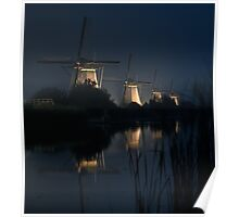Dutch mills by night Poster