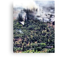 Columbia River Gorge Firefighters Canvas Print