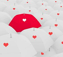 heart shape on umbrella by thinkoddin