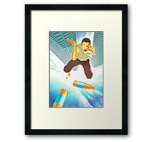 Gravity failure Framed Print