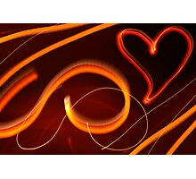 Glowing Heart Photographic Print