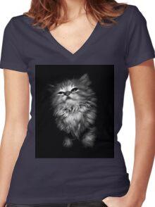 Kitten Women's Fitted V-Neck T-Shirt