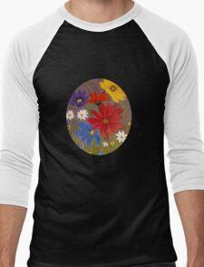Wildflowers-2 Men's Baseball ¾ T-Shirt