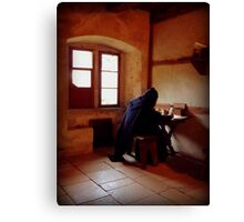 A Monk from the Past Canvas Print