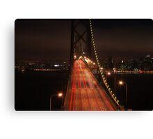 Bay Bridge at night Canvas Print