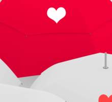 heart shape on umbrella Sticker