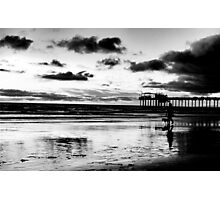 A walk by the Pier Photographic Print