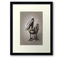 Pelican With His Catch Framed Print