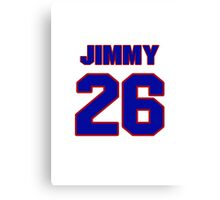 National baseball player Jimmy Bloodworth jersey 26 Canvas Print