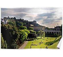 Princes Street Gardens & Edinburgh Castle Poster