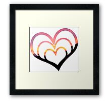 Mountains in Love I Framed Print