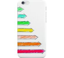 Hand drawing sketch of energy efficiency rating concept iPhone Case/Skin