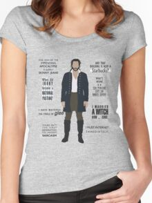 ICHABOD CRANE QUOTES Women's Fitted Scoop T-Shirt