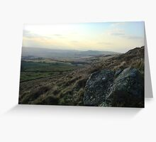 View from Binsey towards the solway firth and Scotland Greeting Card