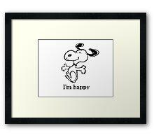 happy snoopy Framed Print
