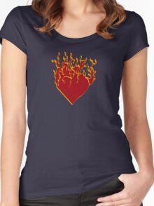 Burning.. Women's Fitted Scoop T-Shirt