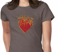 Burning.. Womens Fitted T-Shirt