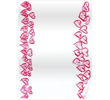 Happy Valentines Day frame image Poster
