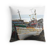 Three Wrecks Throw Pillow