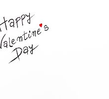 Happy Valentines Day greeting card by Stanciuc