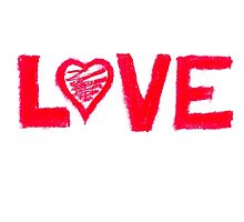 Love word written on greeting card by Stanciuc
