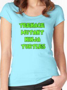 Teenage Mutant Ninja Turtles Words Women's Fitted Scoop T-Shirt