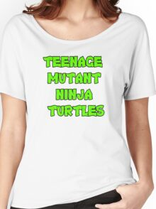 Teenage Mutant Ninja Turtles Words Women's Relaxed Fit T-Shirt