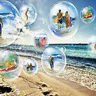 Beach Bubbles by WhiteDove Studio kj gordon