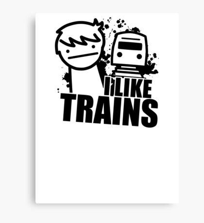ASDF T-Shirt I Like Trains  Canvas Print
