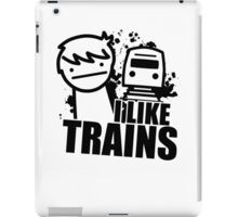 ASDF T-Shirt I Like Trains  iPad Case/Skin
