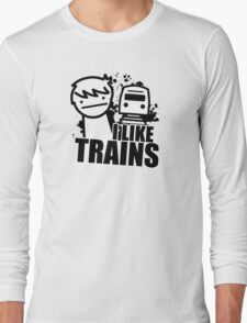 ASDF T-Shirt I Like Trains  Long Sleeve T-Shirt