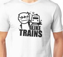 ASDF T-Shirt I Like Trains  Unisex T-Shirt